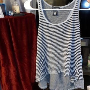 Grey and black stripped shirt